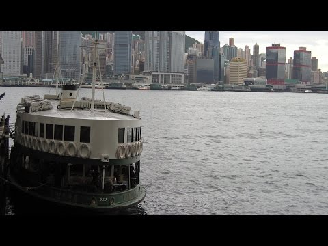 The Star Ferry in Hong Kong across Victoria Harbour to Kowloon