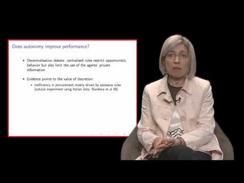 Improving the delivery of public services (Professor Oriana Bandiera - LSE and IGC)