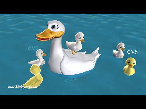 Five Little Ducks Went Out One Day  3D Animation Five Little Ducks Nursery Rhyme for children