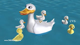 Five Little Ducks Went Out One Day - 3D Animation Five Little Ducks Nursery Rhyme for children
