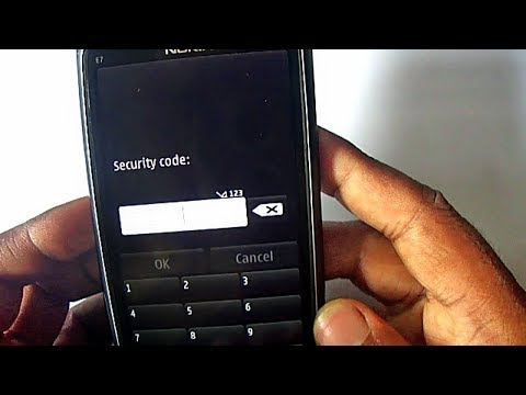 Nokia E7 Factory Reset Security Code | Infinity BB5