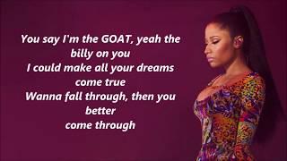 Nicki Minaj - Bed (feat. Ariana Grande) lyrics