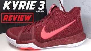 Nike Kyrie 3 'Warning' Hot Punch Sneaker Review