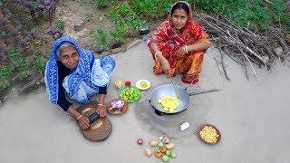 Farm Fresh Kachche Tamatar ka Sabji Cooking by Grandmother | Village Style Raw Tomato Cooking