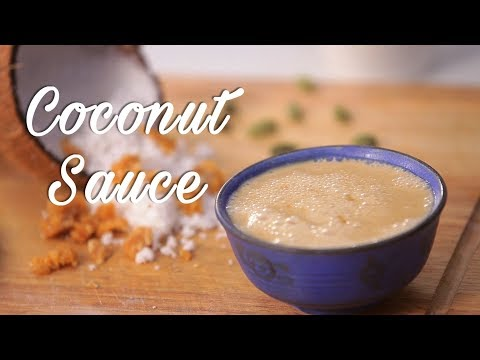 Sweet Coconut Sauce | Homemade Coconut Milk Syrup by Roopa | Easy Coconut Cream Sauce