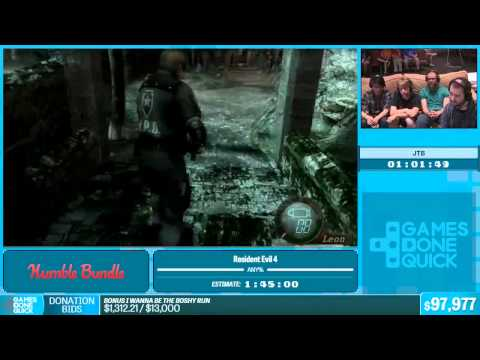 SGDQ 2015 Resident Evil 4 New Game, Professional Mode Speedr