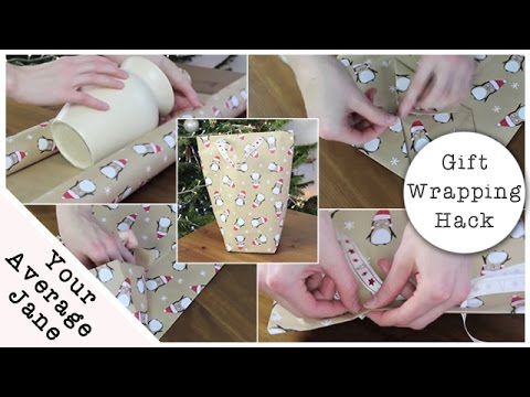 gift wrapping hack how to make a gift bag from wrapping paper youtube. Black Bedroom Furniture Sets. Home Design Ideas