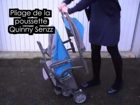 Pliage poussette Quinny Senzz - YouTube
