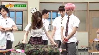 Red Velvet (레드벨벳) Irene (아이린) and Shinee 샤이니 Jonghyun 김종현 ironing Knowing bros deleted scene