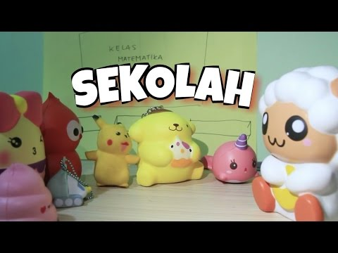 KEHIDUPAN MILLIE DI SEKOLAH / cerita millie 2 / drama squishy bahasa indonesia /uns