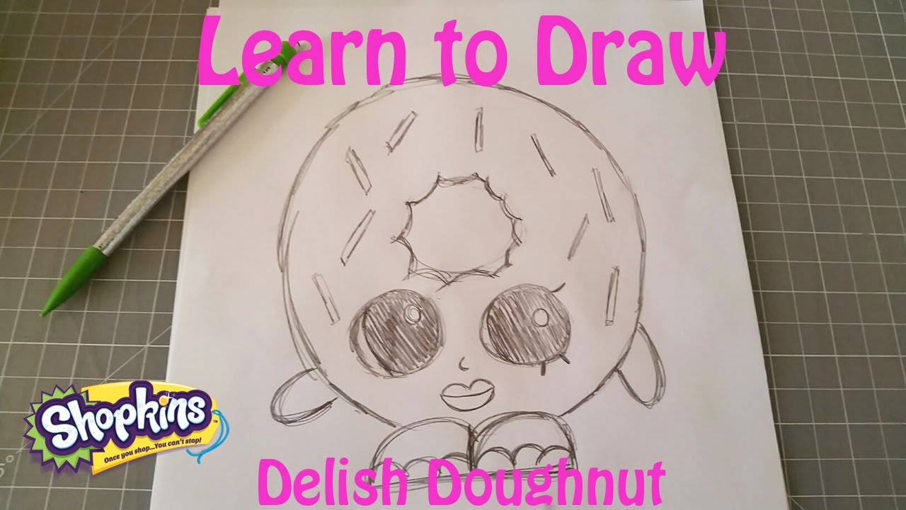 Learn To Draw Shopkins Delish Doughnut   YouTube