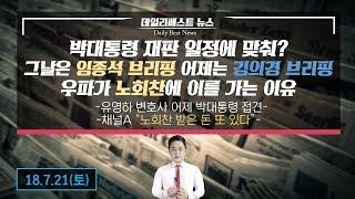 박 대통령 재판일정 맞춰 브리핑하는 청와대...우파가 노회찬에 이를 가는 이유
