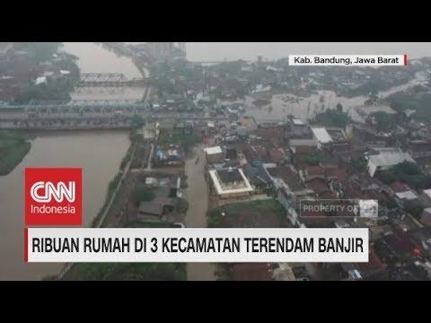 Ribuan Rumah di Bandung Terendam Banjir, Penampakan dari Udara