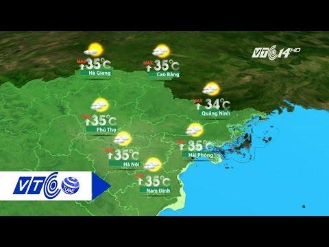 Dự báo thời tiết 01.08.2016: Bắc nóng trưa, Nam mưa