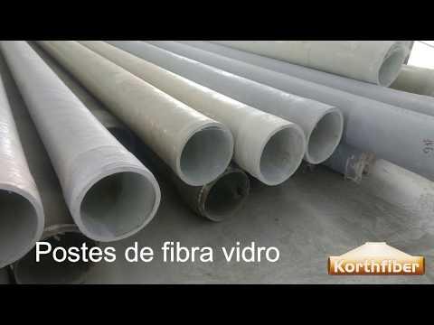 POSTE DE FIBRA DE VIDRO - FABRICAÇÃO