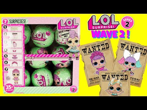 LOL Surprise Dolls SERIES 2 WAVE 2 FULL CASE The Hunt For Luxe, Sugar Queen, Pranksta