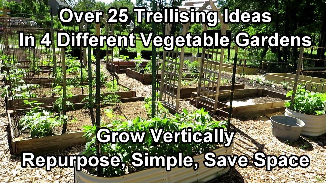 Over 25 Vegetable Garden Trellising Designs: Crop Examples, Materials, Vertical Growing Ideas