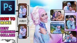 Desainer Wajib Bisa ! Cara Edit Foto Kolase Album Keren Buat Nikahan Atau Wedding