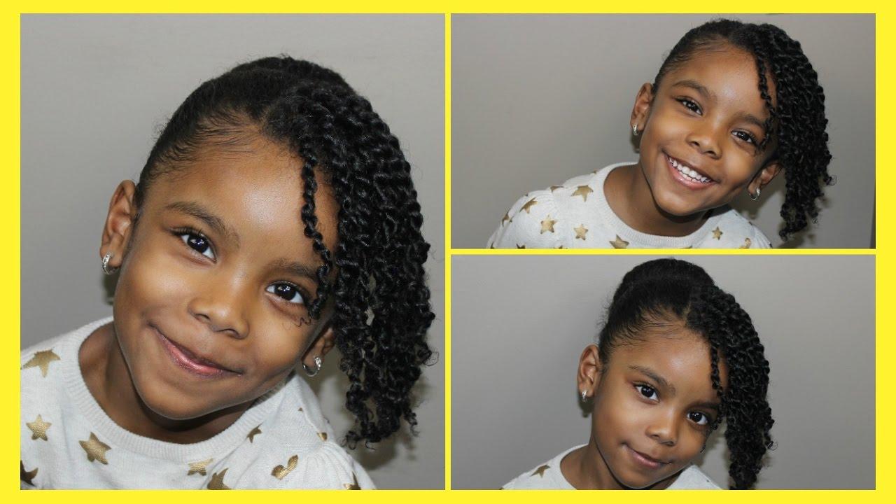 Mini Twist And Bun For Natural Kids Hair Cute Simple Hairstyles
