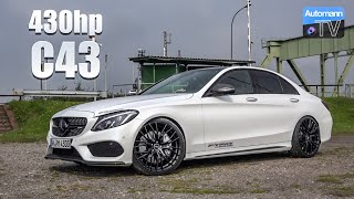 2018 Mercedes-AMG C43 (430hp) - DRIVE & SOUND (60FPS)