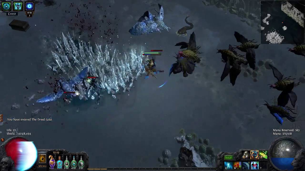 path of exile gloom herald of ice effects youtube