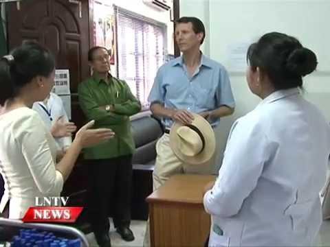 Lao NEWS on LNTV: Denmark's Prince Joachim visit a health centre & industrial sites.20/11/2014