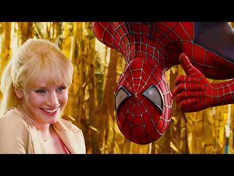 Spider Man And Gwen Stacy Upside Down Kiss Scene   SPIDER MAN 3