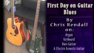 First Day On Guitar Blues with Technics Organ, Yamaha Keyboard and Bass Guitar
