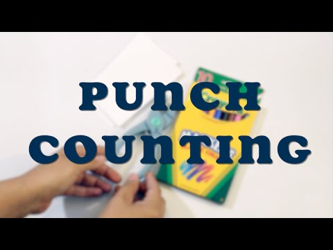 Learning Numbers - Hole Punch Counting