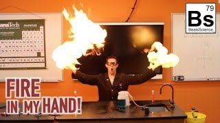 Holding Fire in my Hand - Methane Bubbles Reaction. Don't Try This At Home.