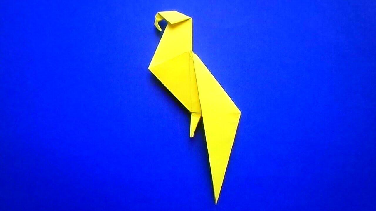 Оригами птица попугай. Как сделать оригами попугая из ...