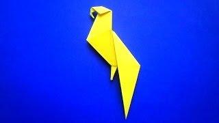 оригами птица попугай /  origami bird parrot