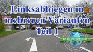 Linksabbiegen Teil 1/2 - Vorfahrtstraße und Zone 30 - Fahrstunde - Prüfungsfahrt