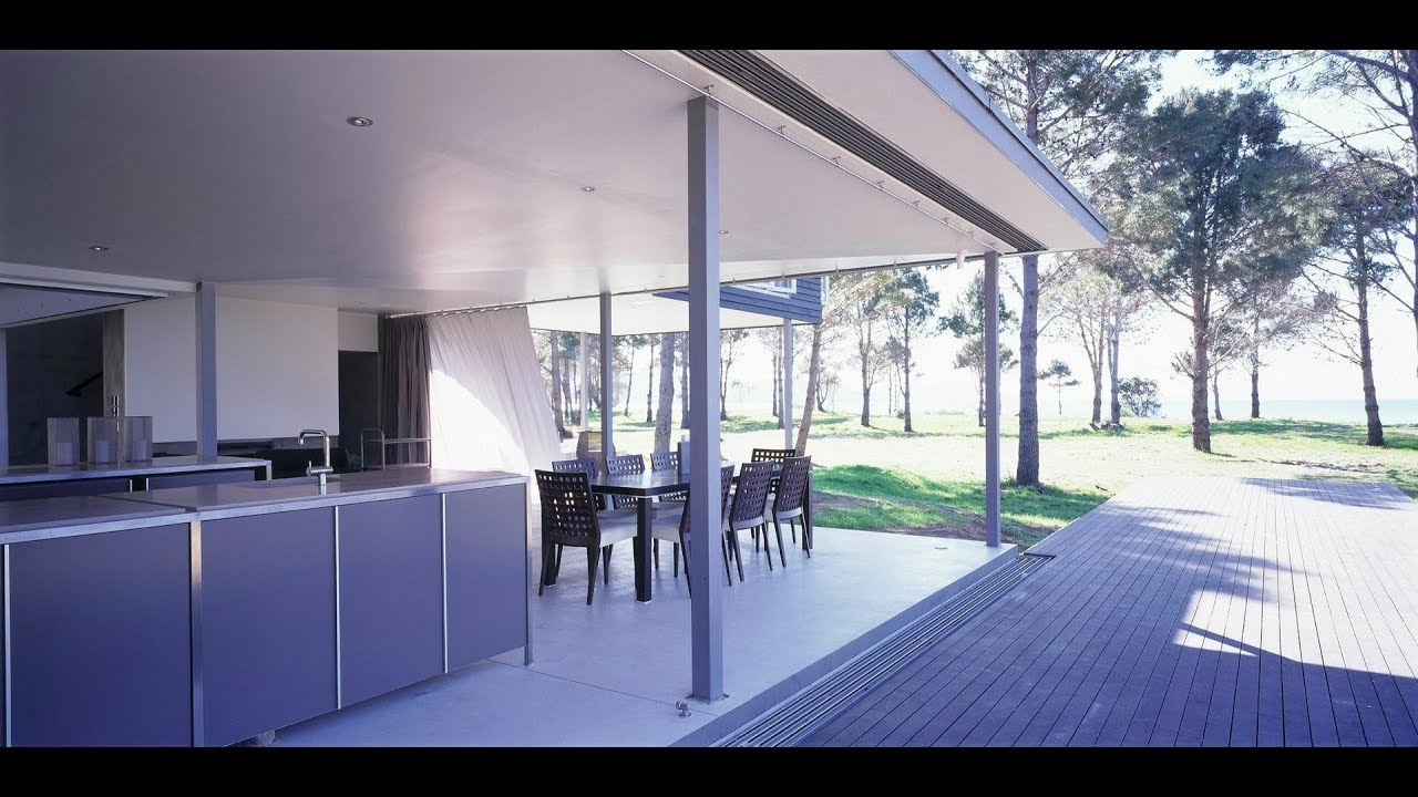 L shaped beach house design with open plan concept youtube for Open plan beach house designs
