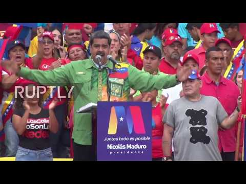 Venezuela: Maradona backs Maduro at final election rally