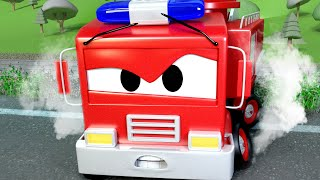 Tehlikeli bir demiryolu - Devriye Aracı araba şehrinde 🚓 🚒 Çocuklar için çizgi filmler