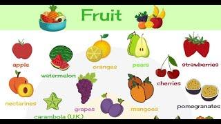 Fruits   Pre School    सीखे फलों के नाम इंग्लिश/हिंदी में  Learn English Words Video For Kids