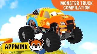 appMink Monster Truck Compilation - Kids Learn Number | Monster Truck & Police Car video for kids