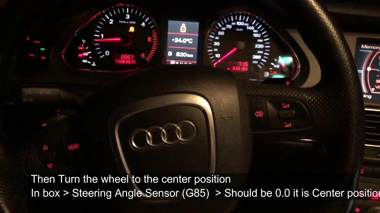 00778 - Steering Angle Sensor (G85) / Датчик угла поворота рулевого колеса  Audi A6 C6 Fix with VCDS