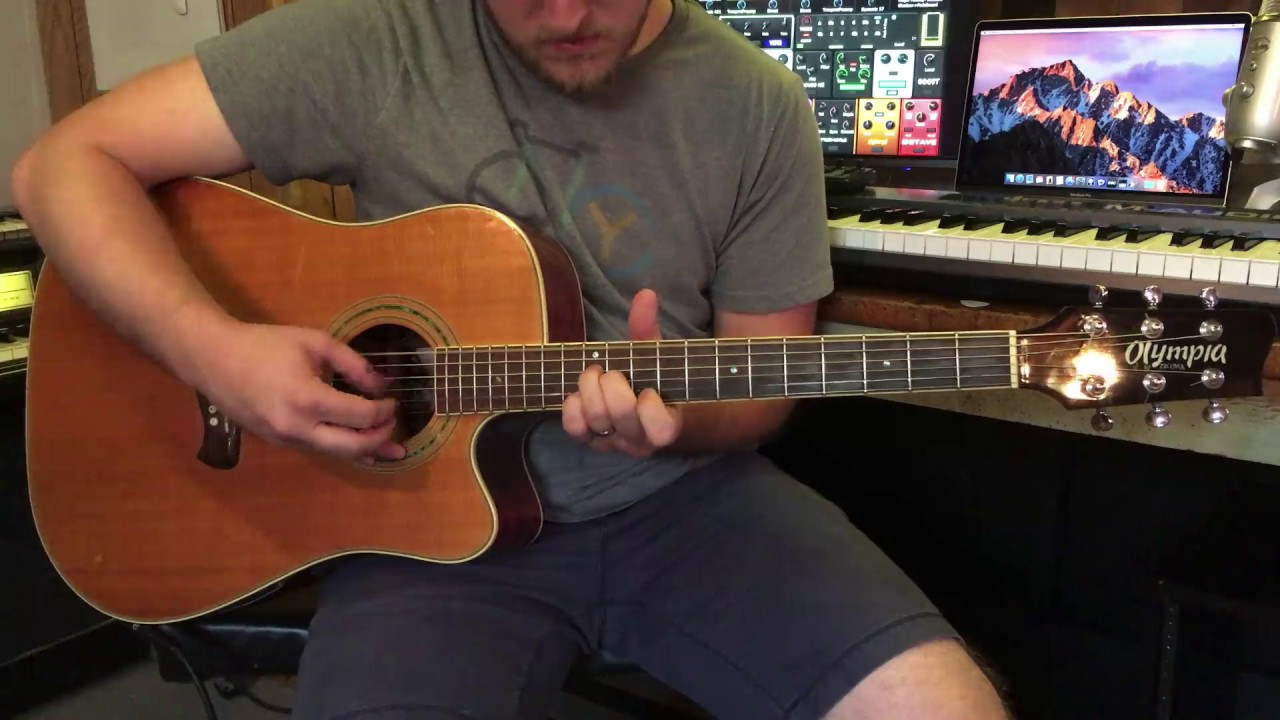 acoustic guitar through the sunday guitar template for mainstage 3