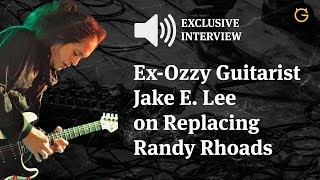 Former Ozzy Guitarist Jake E. Lee Opens Up on Replacing Randy Rhoads