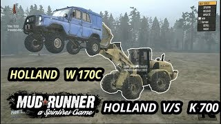 Spintires Mudrunner : Mods Holland W170c | Holland vs K700