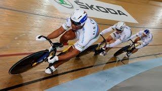 men s team sprint gold final track cycling world cup cambridge new zealand