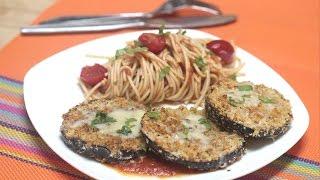 Crispy Baked Eggplant Video Recipe By Bhavna | Eggplant Parmesan Recipe Vegetarian