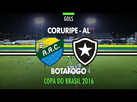 Gol - Coruripe-AL 0 x 1 Botafogo - Copa do Brasil - 05/04/2016