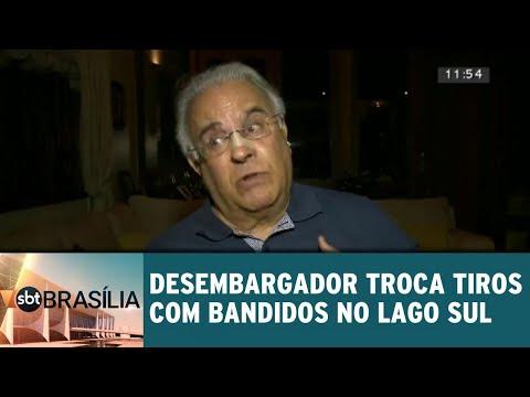 Desembargador troca tiros com bandidos no Lago sul | SBT Brasília 25/07/2018