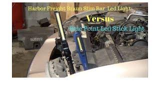 Blue Point LED Stick Light VS Harbor Freight Braun Slim Bar LED Light