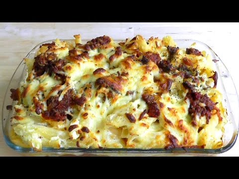 Pasta Bake Cheese & Meaty Tomato Sauce How to make Delicious Recipe