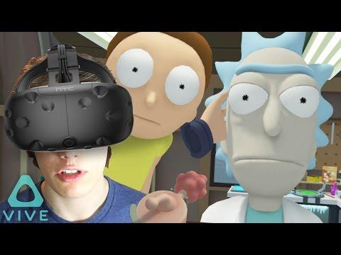 Rick and Morty Virtual Reality! (HTC Vive) - Total Rick-ality