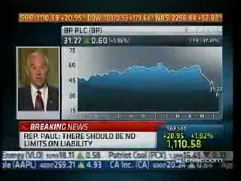 Ron Paul Defends Obama on BP Oil Spill, And Himself on Owning Gold